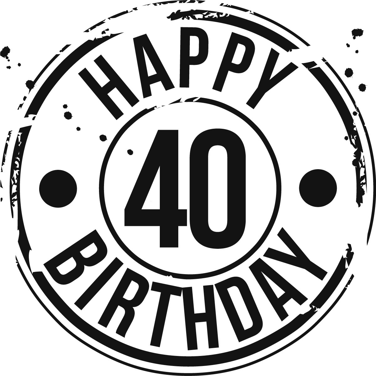 Happy 40th birthday clipart free.