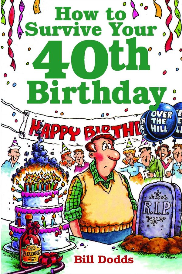 Funny 40th birthday card As I Get Older I Keep Walking Into.