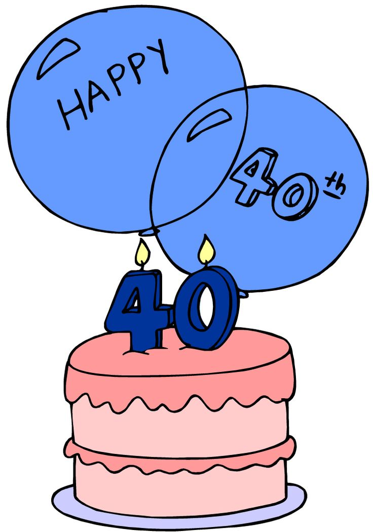 40th birthday cake clipart 4 » Clipart Station.