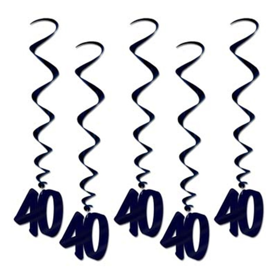 40th Birthday Dangling Cutouts 5 Free Shipping Offer 50 Off.