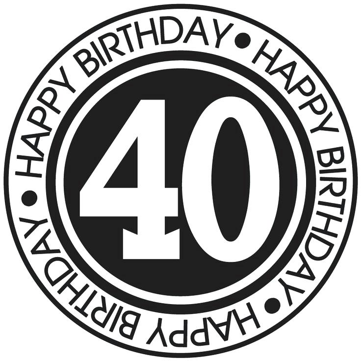 Free 40th birthday clipart 3 » Clipart Station.