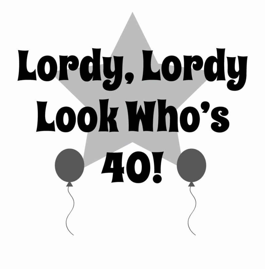 40th Birthday Clipart.