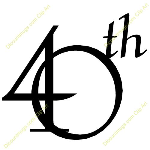 40th clipart 1 » Clipart Portal.