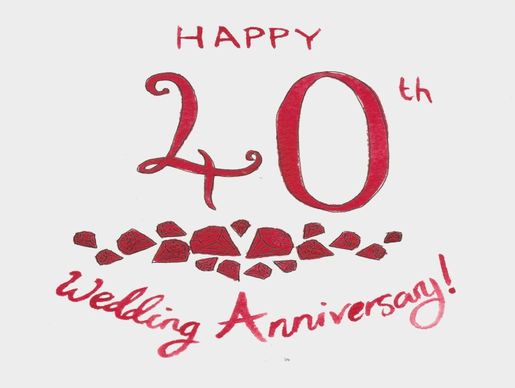 40th Wedding Anniversary Clipart.