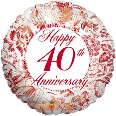 Ruby Wedding Anniversary Clipart.