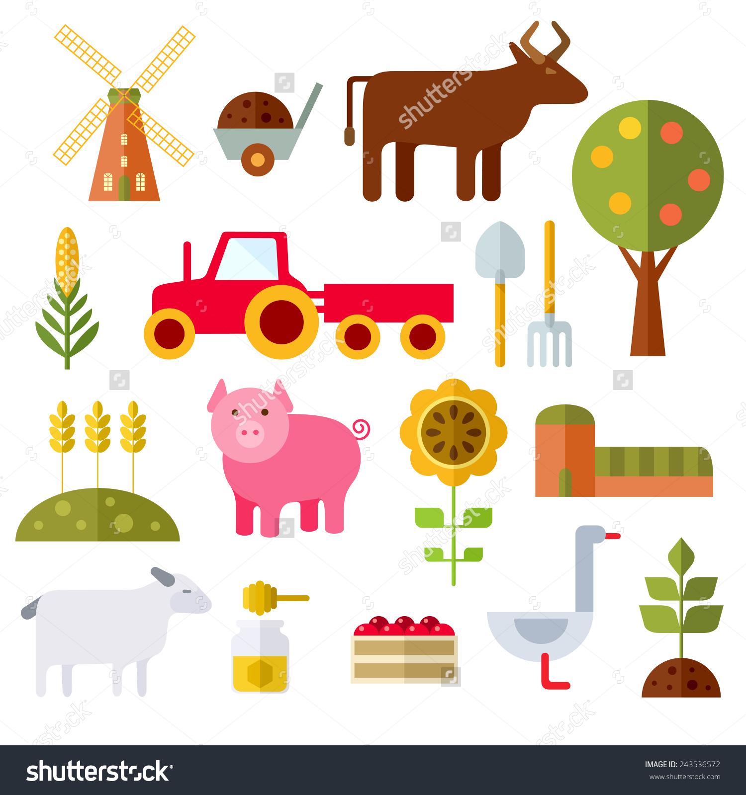 Farm Tools And Equipment Clip Art (41 ).
