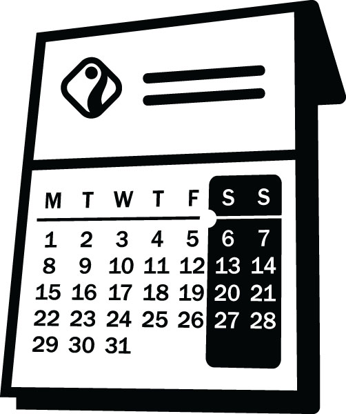 Calendar Clip Art For Clock & Time Custom Gifts & Products.