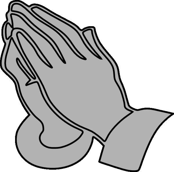 Gray praying hands clip art at vector clip art online image #4100.
