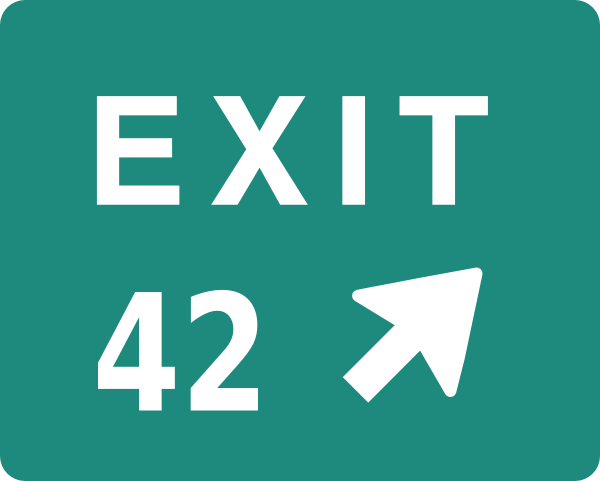 Exit 42 Clip Art at Clker.com.