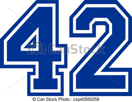 Number 42 Illustrations and Clipart. 117 Number 42 royalty free.