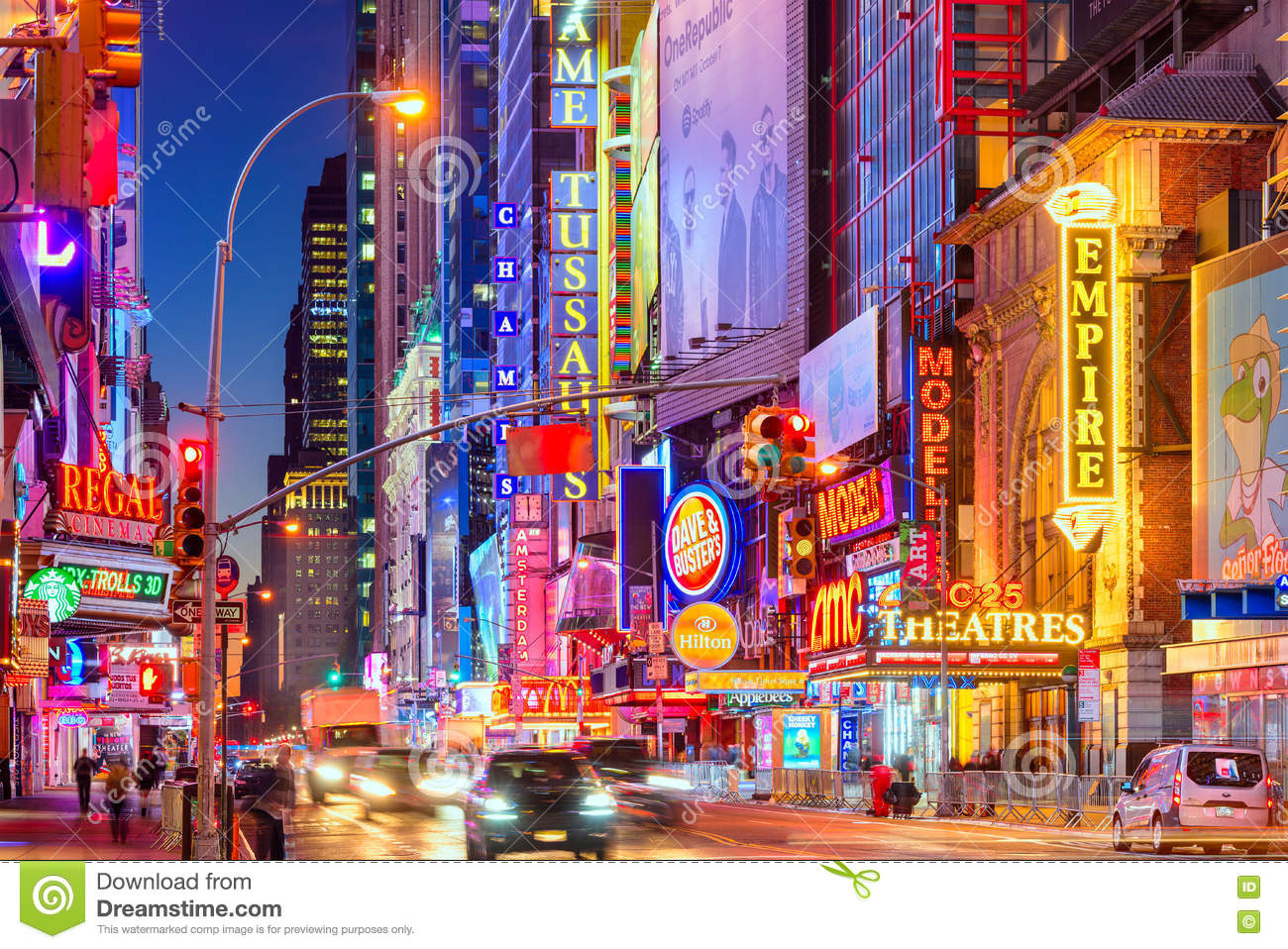 42nd Street New York City editorial image. Image of scenic.