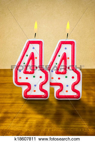 Clipart of Burning birthday candles number 44 k18607811.