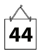 Number 44 clipart.