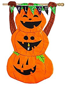 Amazon.com : Evergreen Welcome Pumpkin Totem Applique House Flag.