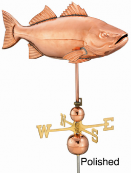 44 Inches Large Striped Bass Weathervane Icon, PNG ClipArt Image.