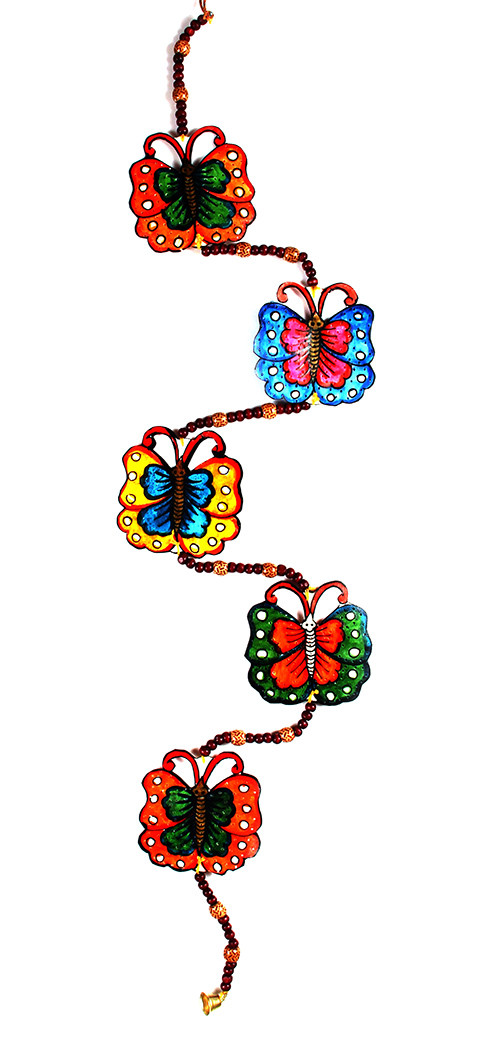 Leather Puppetry Butterfly Design.