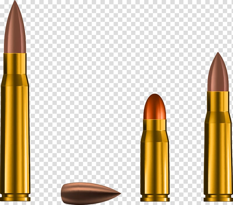 Brown and red bullets illustration, Bullet Weapon Cartridge.