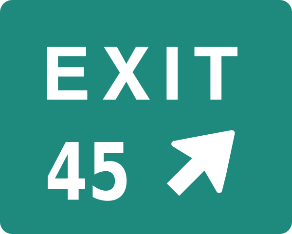 Exit 45 Clip Art at Clker.com.