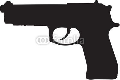 45 Gun Clipart.