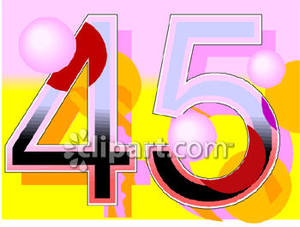 Number 45 clipart.