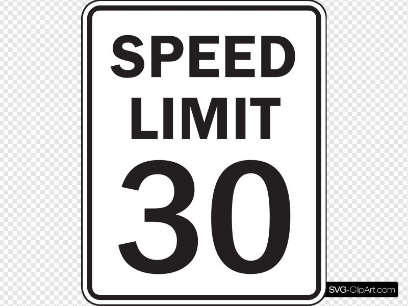 Speed Limit 30 Clip art, Icon and SVG.