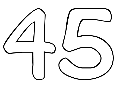 Color by Number Printables Number 45.