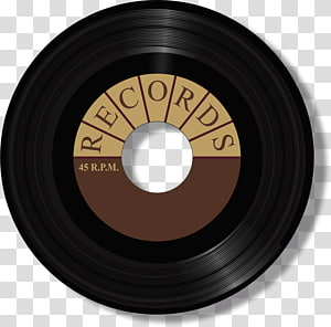Phonograph record Music 45 RPM , record player transparent.