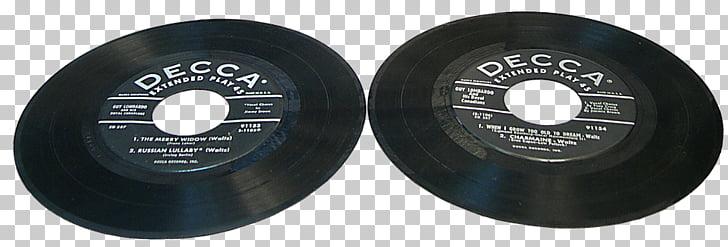 45rpm Vinyl Records, two black Decca vinyl records PNG.