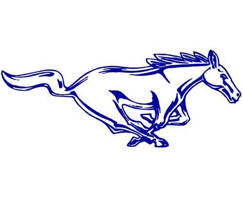 Ford Mustang Logo Drawing at GetDrawings.com.