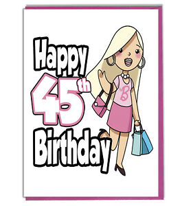 Details about Glamour Girl 45th Birthday Card Ladies Daughter Grandaughter  Friend Mum Sister.