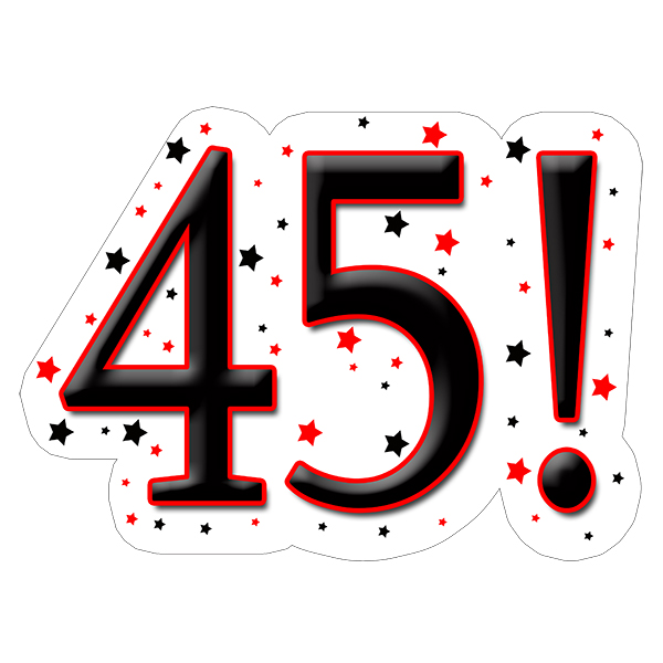 45th happy birthday party supplies.