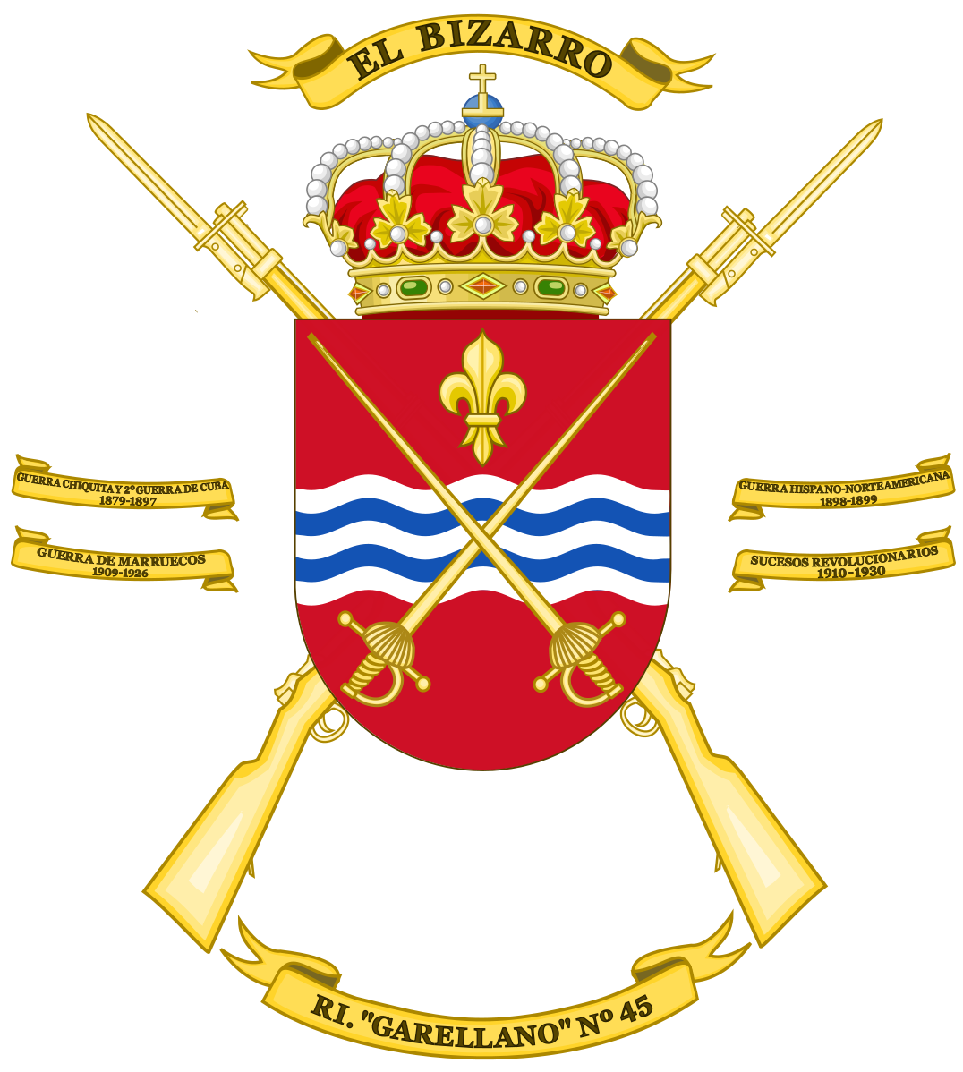 File:Coat of Arms of the 45th Infantry Regiment Garellano.svg.