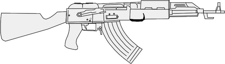 Ak 47 Clip Art Download.