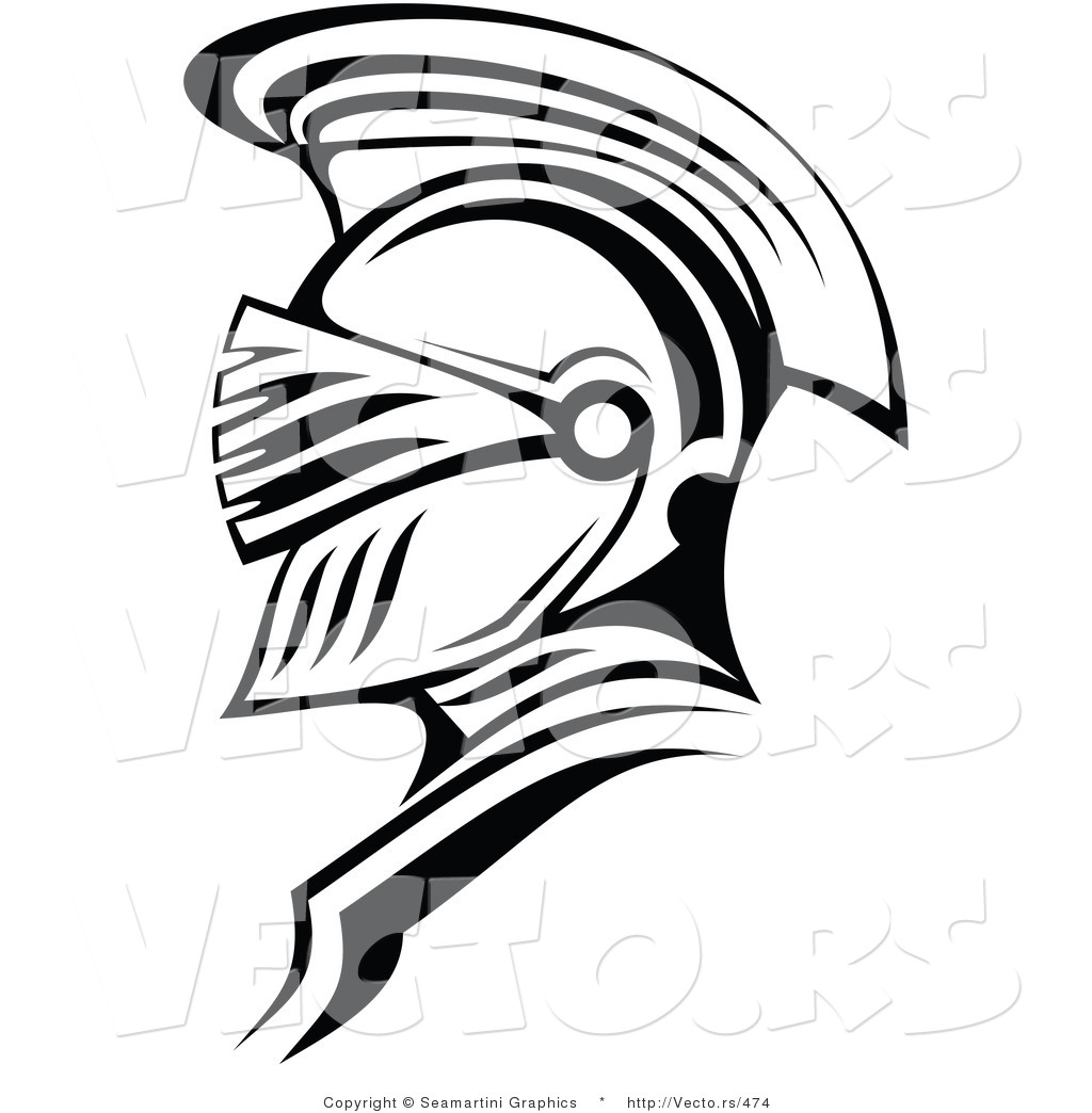 Vector of a Roman Soldier Outline by Vector Tradition SM.