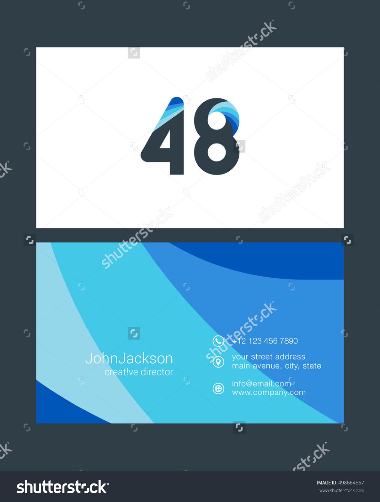 Number Forty Eight 48 Logo 48 Stock Vector 498664567.