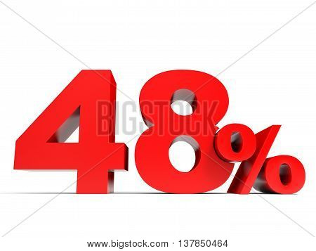 Red Forty Eight Percent Off. Discount 48%. Stock Photo & Stock.