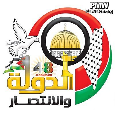 New logo celebrating Fatah\'s 48th anniversary includes map.