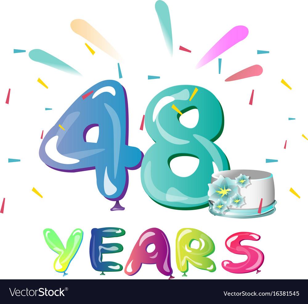 48 years anniversary celebration with cake.