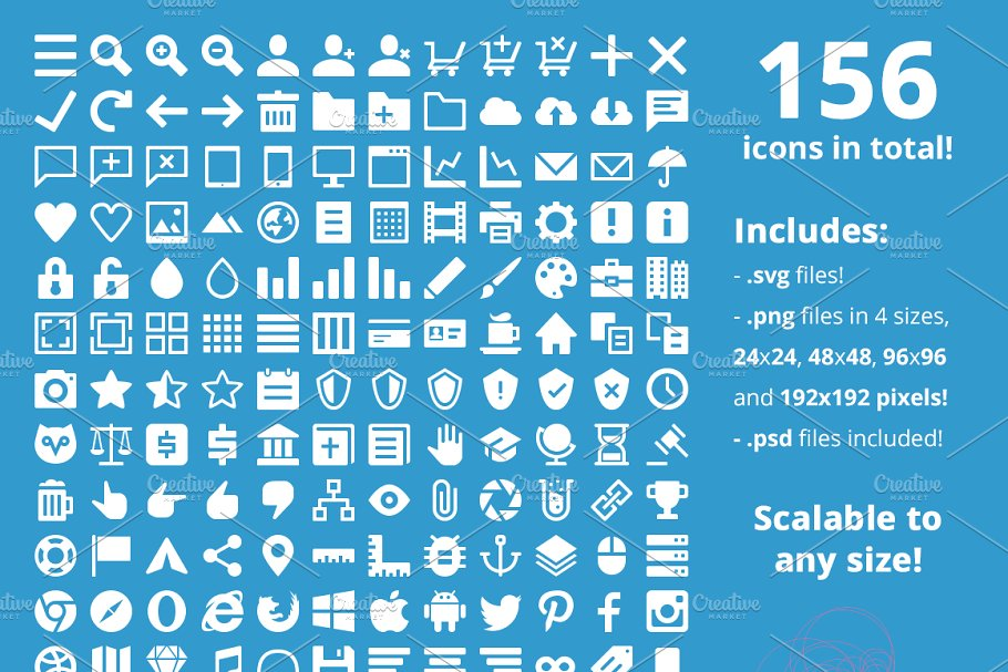 Responsive Icon Set ~ Icons ~ Creative Market.