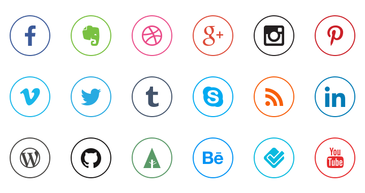 The Best Social Media Icons for your Website.