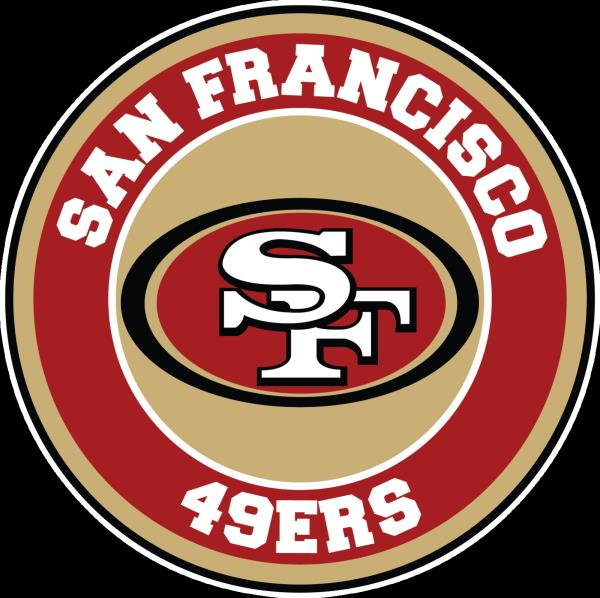 Details about San Francisco 49ers Circle Logo Vinyl Decal / Sticker 10  sizes!!.