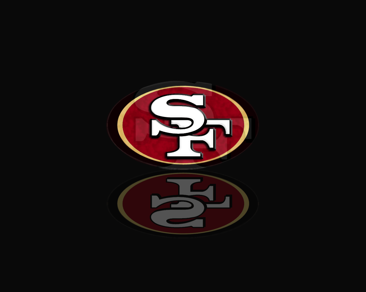 Free download San Francisco 49ers Logo Wallpaper w Stripes.