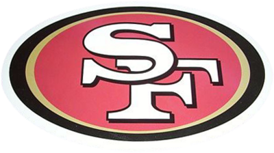 San Francisco 49ers logo PSD, vector image.