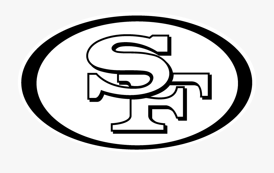San Francisco 49ers, Nfl, Decal, Black And White, Text.