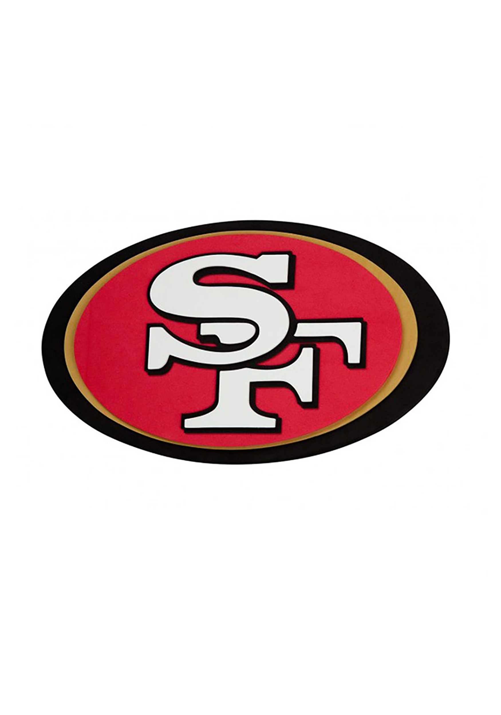 NFL San Francisco 49ers Logo Foam Sign.