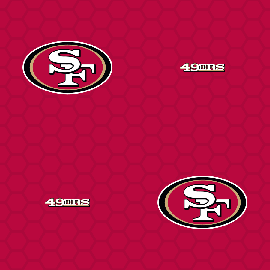 San Francisco 49ers: Logo Pattern (Red).