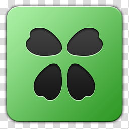 Icon , chan, green and black logo transparent background PNG.