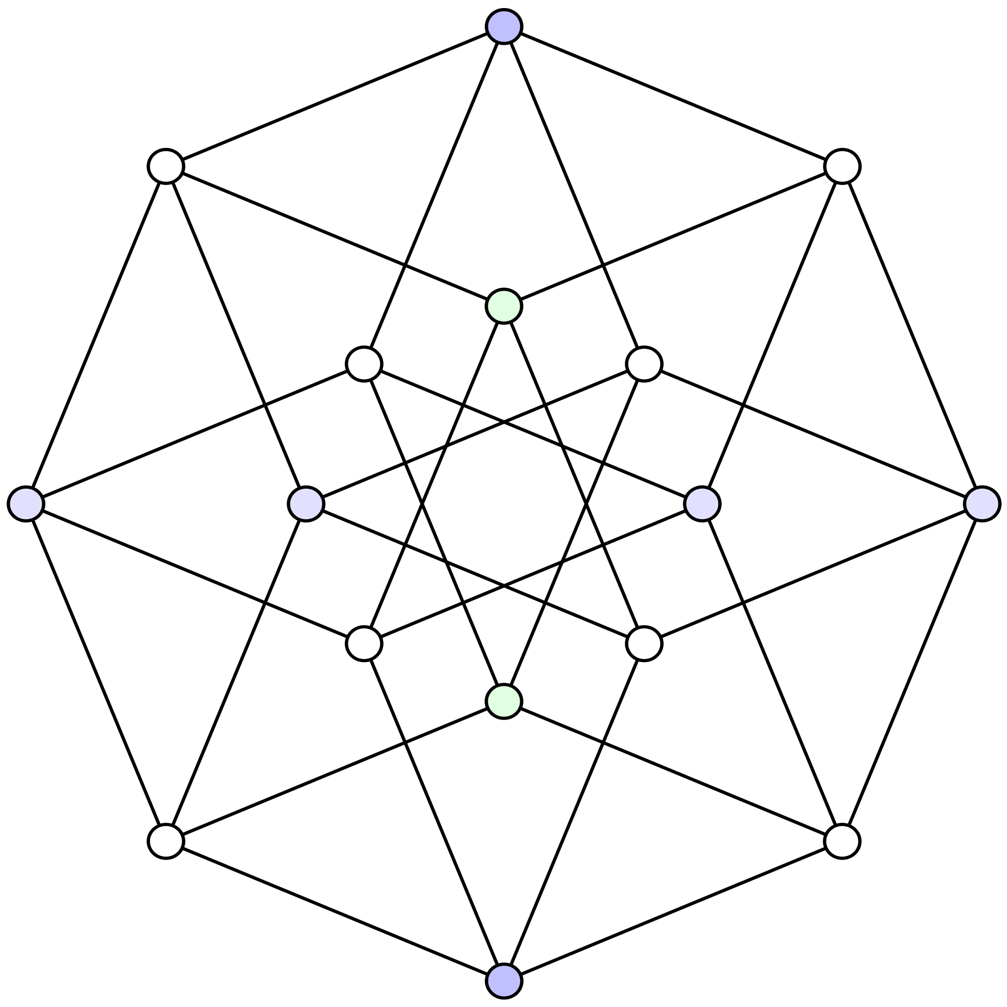 Tesseract. 2d projection of a 4d cube.