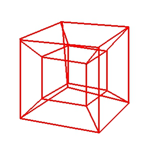 How to Draw a 4D Hypercube (My Way).