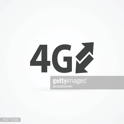 Simple icon of arrows and 4g text. Clipart Image.